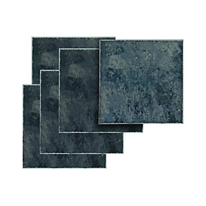 Wickes Vinyl Tiles Black Slate 305 x 305mm 11 Pack