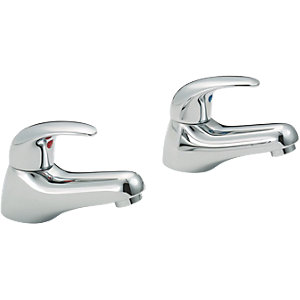 Wickes Orian Compact Bath Taps Chrome