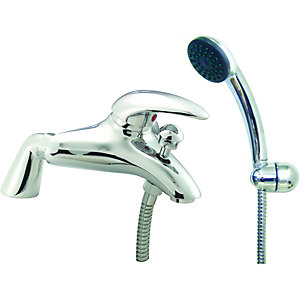 Wickes Orian Compact Bath Shower Mixer Chrome