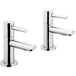 Wickes Mirang Basin Taps Chrome