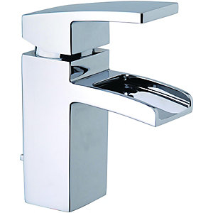 Wickes Waterfall Mono Basin Mixer Tap Chrome