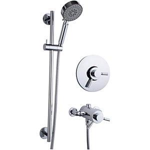 Wickes Versaille Thermostatic Shower Mixer Chrome
