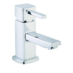 Wickes Yaran Compact Mono Basin Mixer Tap Chrome