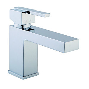 Wickes Kubism Mono Basin Mixer Tap Chrome