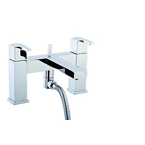 Wickes Kubism Bath Shower Mixer Chrome