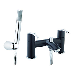 Wickes Versaille Bath Shower Mixer Black