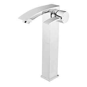 Wickes Sufi Tall Mono Basin Mixer Tap Chrome
