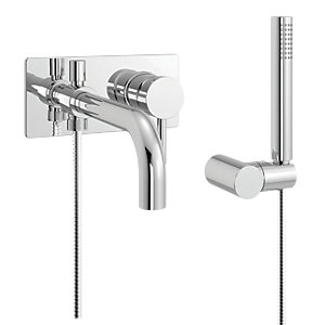 iflo Heavea Wall Mounted Bath Shower Mixer Tap Brass