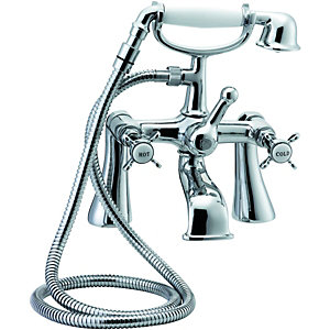 Wickes Tipica Bath Shower Mixer Chrome