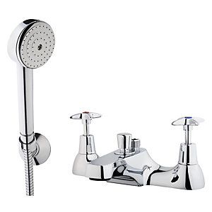 iflo Crosshead Bath Shower Mixer Tap Brass