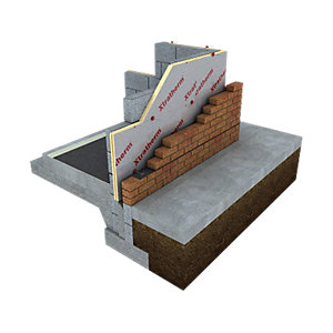 Xtratherm Cavity Wall Board Partial Fill Square Edge 1200mm x 450mm x 75mm