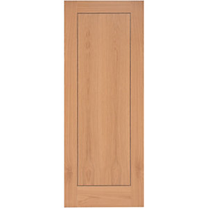 Wickes Gibson Internal Oak Veneer Door Flushed 1 Panel 1981x610mm