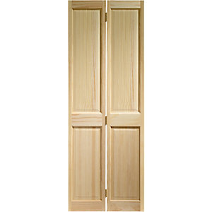 Wickes Skipton Internal Bi-fold Door Clear Pine 4 Panel 1981X686mm