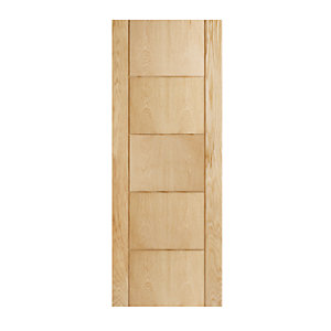 Wickes Thame Internal Fire Door Oak Veneer Door 5 Panel 1981x838mm