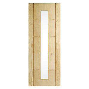 Wickes Thame Internal Oak Veneer Door Glazed 5 Panel 1981x838mm