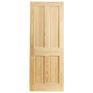 Wickes Skipton Internal Softwood Door Clear Pine 4 Panel 1981x610mm