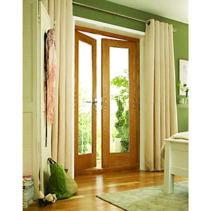 Wickes Bourne Oak Veneer French Doors 4ft