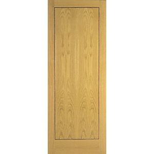 Wickes Gibson Internal Oak Veneer Door Flushed 1 Panel 1981x686mm