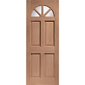 Carolina 4 Panel Hardwood Veneer External Door 1981mm x 762mm x 44mm