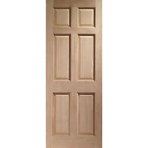 Colonial 6 Panel Hardwood Veneer External Door 1981 x 762 x 44mm