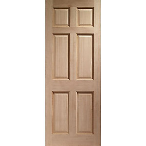 Colonial 6 Panel Hardwood Veneer External Door 2032 x 813 x 44mm