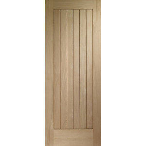 Wickes Geneva External Oak Veneer Door 2032x813mm
