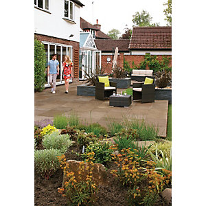 Marshalls Indian Sandstone 15.2m2 Patio Pack - Brown Multi