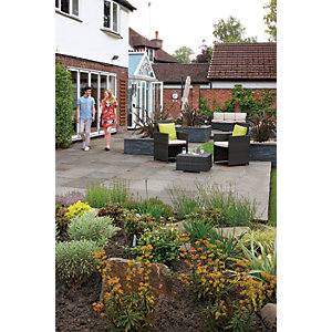 Marshalls Indian Sandstone 15.2m2 Patio Pack - Grey Multi