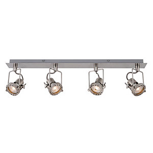 Wickes Studio LED 4 Bar Spotlight Brushed Chrome