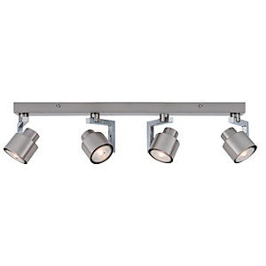 Wickes Boulevard LED 4 Bar Spotlight Brushed & Polished Chrome