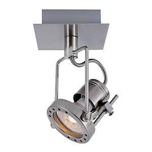 Wickes Studio LED Single Spotlight Brushed Chrome