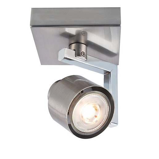 Wickes Boulevard LED Single Spotlight Brushed & Polished