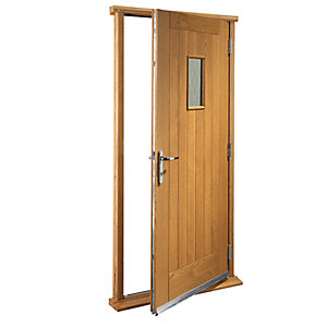 Wickes Chancery External Oak Veneer Door Set 2067 x 850mm