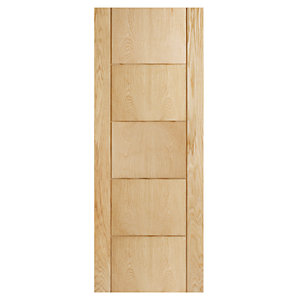 Wickes Thame Internal Oak Veneer Door 5 Panel 1981x610mm