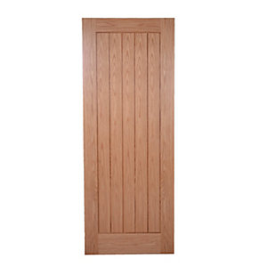 Wickes Geneva Internal Pre Finished Oak Veneer Door 5 Panel 1981 x 762mm