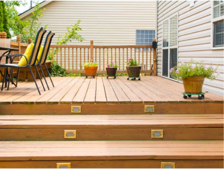 Ideas for decking for Garden decking examples