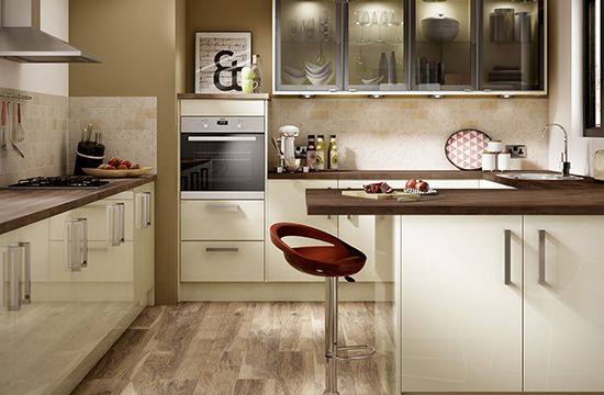 Eton Gloss Cream Kitchen Range