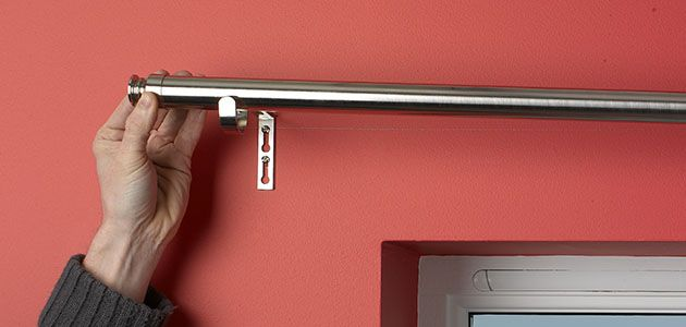 How To Fit Curtain Poles & Tracks | Wickes.co.uk