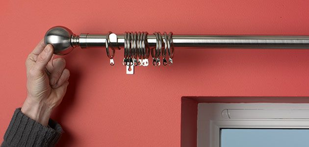 Curtains Ideas adhesive curtain rod : How To Fit Curtain Poles & Tracks | Wickes.co.uk