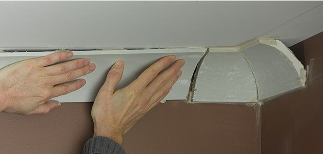 How to fit coving mouldings for Coving corner template