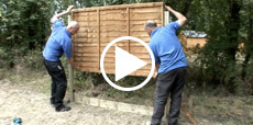 Video guide showing how to install a fence