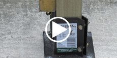 Video guide showing how to install a fence post into concrete