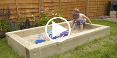Video guide showing how to build a sandpit