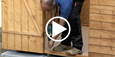 Video guide showing how to build a shed