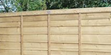 Guide showing how to repair a fence panel