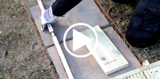 Video guide showing how to lay paving slabs