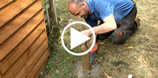 Video guide showing how to replace a rotten fence post
