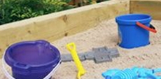 Video guide showing how to build a sand pit