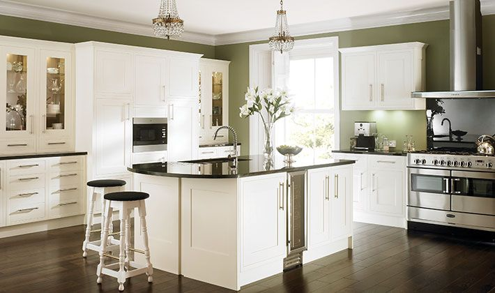 Heritage bone kitchen for Wickes kitchen cupboards