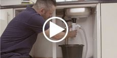 Video guide showing how to fix a leaking sink